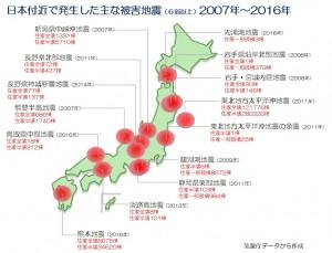 地震発生分布図